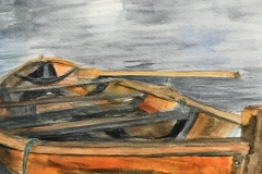 Rowboat on Grey